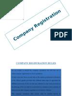 Company registration Rules