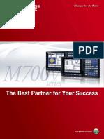 Mitsubishi m700 CNC brochure