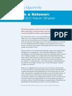 Why Im a Listener Amgen CEO Kevin Sharer