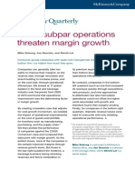 When Subpar Operations Threaten Margin Growth