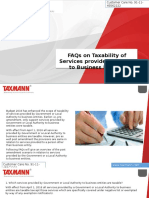 FAQs on Taxability of Services Provided by Govt to Business Entities