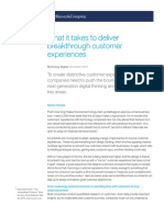 What It Takes to Deliver Breakthrough Customer Experiences Final