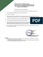Formulir Pendaftaran Seleksi To