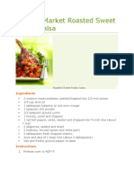 Fosters Market Roasted Sweet Potato Salsa