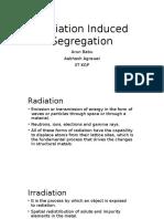 Irradiation Segregation and Boundary Characteristics