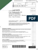 January 2013 QP C2 Edexcel