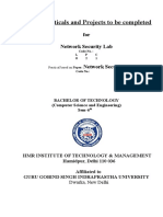 Lab Manual Network security