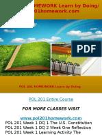 POL 201 HOMEWORK Learn by Doing- Pol201homework.com