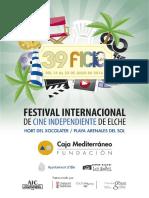 39 Festival Internacional de Cine Independiente de Elche. Dossier de Presentación