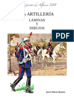 El Ejercito de Alfonso Xiii La Artillería Laminas