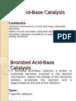 Acid Base Catalysis
