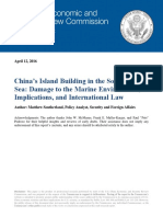 China's Island Building in the South China Sea