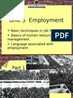 Unit 5 Employment