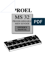 Proel MS32 Manual