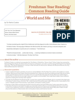 BETWEEN THE WORLD AND ME Common Reading Guide