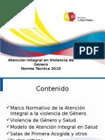 Atención Integral en Violencia de Género Norma Técnica 2014
