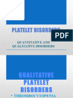 Platelet Disorders -2