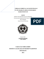 Kondisi Kecerdasan Spiritual dan Ketentraman Jiwa Siswa MTs Manbaul Huda Tunjungrejo Margoyoso Pati.pdf