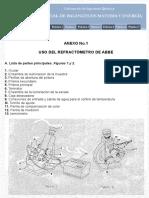 Práctica 1- Uso del Refractómetro