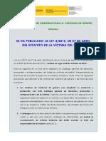 Ley 4-2015, De 27 de Abril, Estatuto de La Victima Del Delito