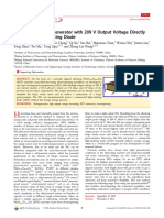 Flexible Fiber Nanogenerator with 209 V Output Voltage Directly Powers a Light-Emitting Diode