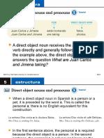 Direct Object Nouns and Pronouns