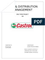 Sales and distribution management of castrol