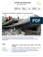 Boletín de noticias KLR 18ABR2016