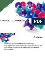 Curs 7. Conflictul in Grupuri
