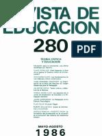 Revista de Educación Nº 280 (1986)