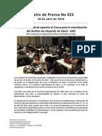 Boletín 023 Ministerio de Salud Capacita Al Cauca Para La Actualización Del Análisis de Situación de Salud - ASIS