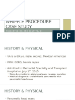 whipple procedure case study presentation