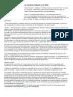 La Violencia Familiar en El Peru