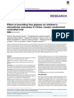 Effect of Providing Free Glasses on Chidren's Educational Outcomes