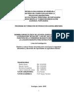SIEMBRA AGROECOLÓGICA DE LECHOSA (CARICA PAPAYA L.) PARA  LA PRODUCCIÓN  DE DULCES  Y USO DE  SUS PROPIEDADES CURATIVAS EN LA COMUNIDAD MIJAGUITO ARRIBA SECTOR  LA LAGUNITA MUNICIPIO PÁEZ ESTADO PORTUGUESA
