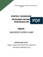 Kertas Kerja Inovasi Magnetic Study Lamp