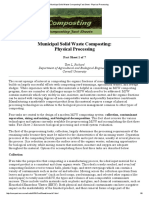 Municipal Solid Waste Composting Fact Sheet - Physical Processing