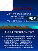La Telematica y La Teleinformatica