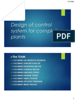 Design of Control System for Complete Plants
