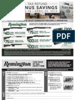 Remington April 2016 Rebate Form