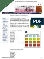 Combinación de Colores Para El Código GS1