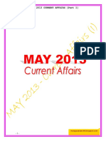 May 2013 Current Affairs - I