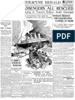 Coverage of the Titanic Sinking From Syracuse Newspapers