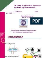 Deduplication using Hadoop and Hbase