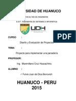 Diseño Evaluacion de Proyecto Fulvio (UdH)