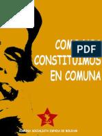 Como Nos Constituimos en Comun. Caso Comuna Socialista Espada de Bolivar