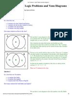 Venn Diagrams Exercise