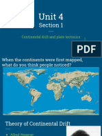 1 - unit 4 section 1 - continental drift and plate tectonics