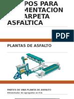 Equipos Para Pavimentacion de Carpeta Asfaltica