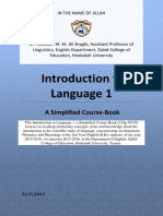 Simplified Coursebook of Introduction to Language 1 by Dr Shaghi 1st Sem 2015 2016